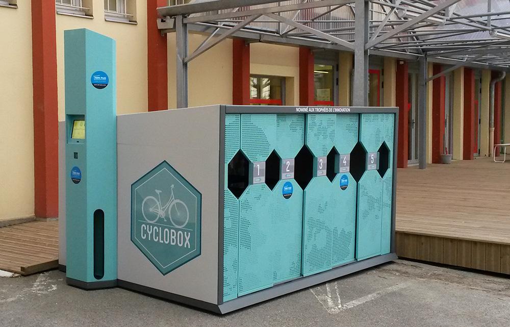 Abri Plus - Abri vélos sécurisé - Cyclobox - Ile de Nantes (44)