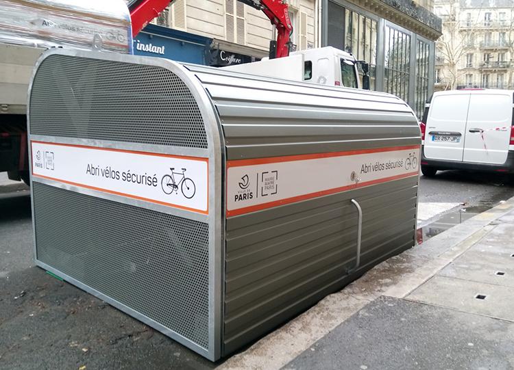 Abri Plus - Abri vélos sécurisé Cooma - rue Jacques coeur près de Bastille  Ville de Paris quatrième