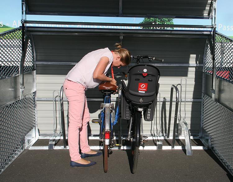Abri Plus - Box velos collectif - Sécurisation des vélos avec porte bébé - Châlon sur Saône (71)