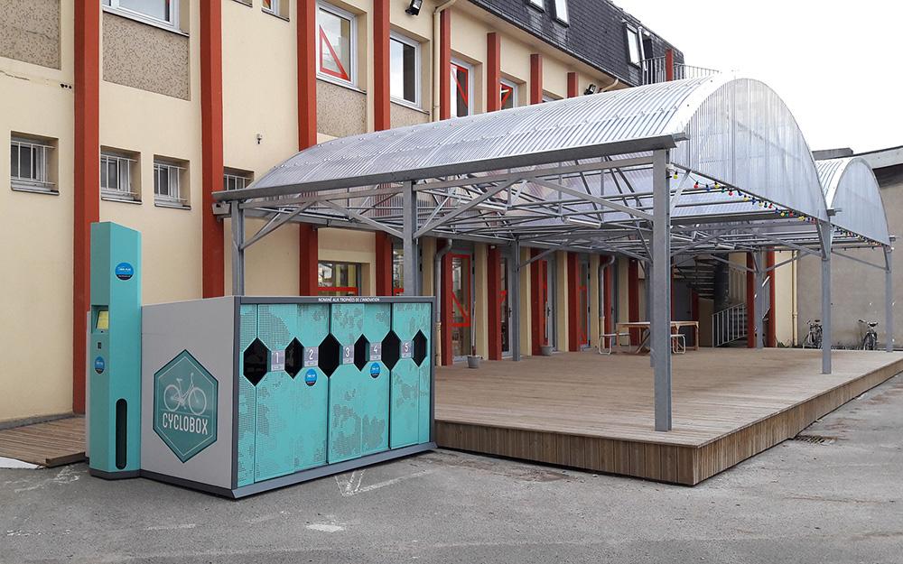 Abri Plus - Garage à vélos high tech - Cyclobox - Ile de Nantes (44)