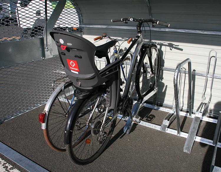 Abri Plus - Minibox vélos Bikebox Cooma - Rangement des vélos avec siège bébé - Châlon (71)