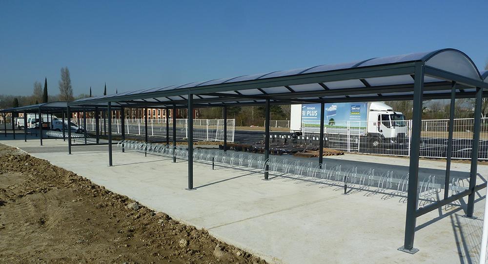Abri Plus - Parkings et stationnements velos - Modèle Varennes - Centre National d'Etudes Spatiales - Toulouse (31)
