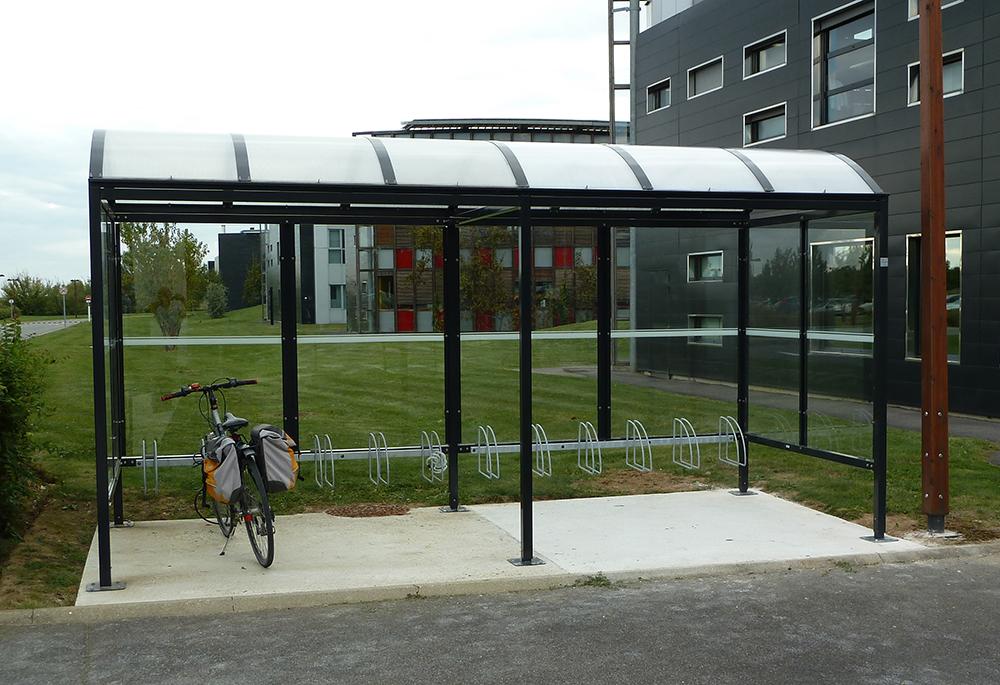 Abri Plus - Stationnement vélos à Danone Research Palaiseau (91) dans le cadre de loi de transition énergétique