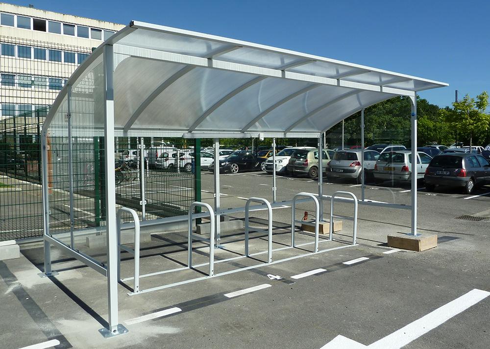 Abri vélo - Plan de déplacement d'entreprise PDE Airbus - Toulouse (31)