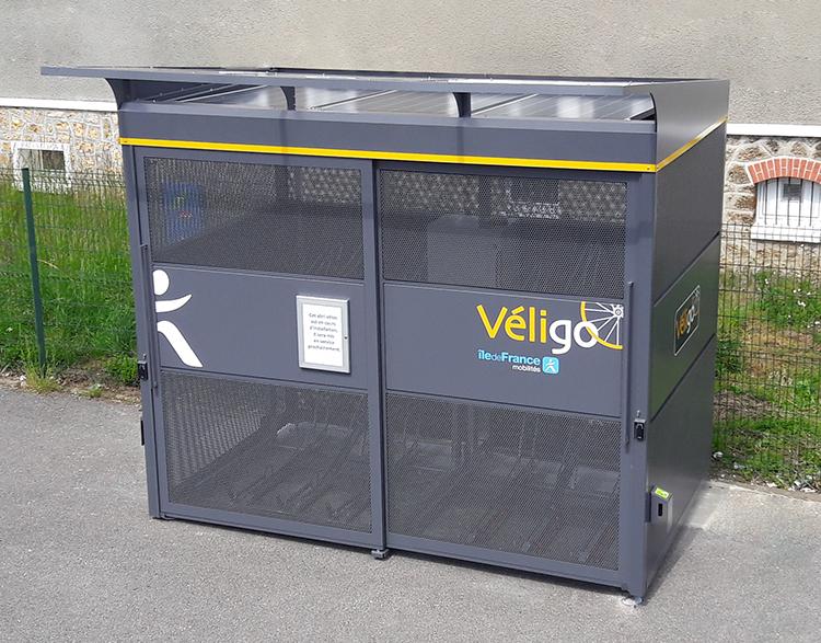 Abri velo autoportant et autonome en énergie - Veligo Ile de France Mobilité