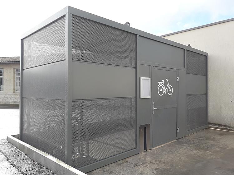Abri vélos sécurisé NOMAD pour l'école Gambetta - Talence (33)