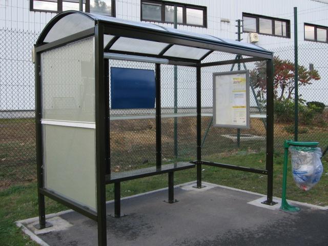 fabrication et installation d 39 une aubette ou abri de bus. Black Bedroom Furniture Sets. Home Design Ideas