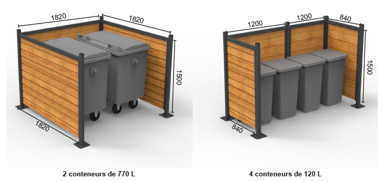 conseil et aide pour bien configurer son enclos poubelles avec Abri Plus.