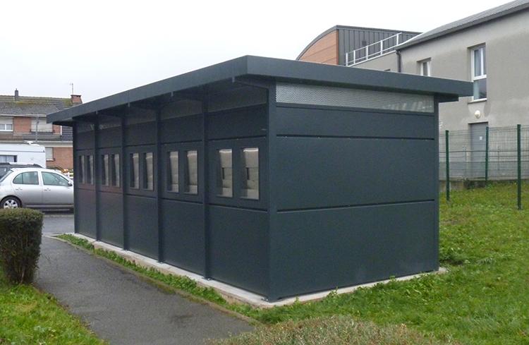 Local conteneurs BEAUVAIS PARC avec cellules photovoltaiques pour de l'habitat social à Barlin (62)