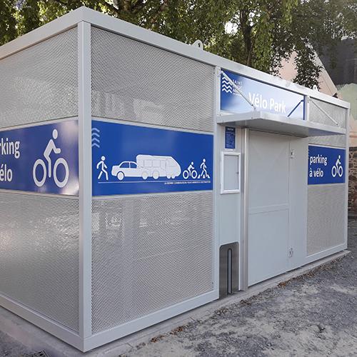 Abri vélo fermé sécurisé type Nomad