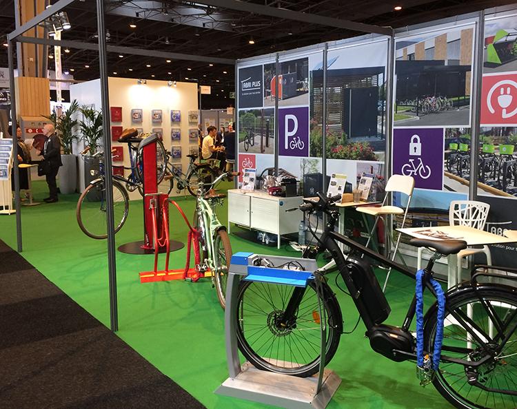 Salon des Transports Publics 2018 - Innovations Abri Plus vélos et VAE