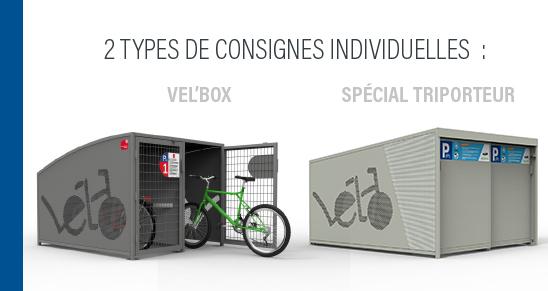 Les box vélos ou consignes sécurisées