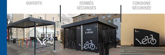 Ville de Nevers - abris vélos ouverts sécurisés collectifs & box individuels